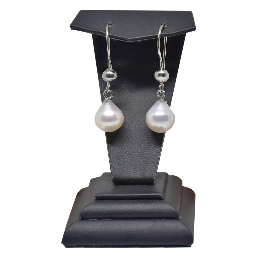 - Ahsen 925 Ayar Gümüş Doğal Beyaz Damla Küpe AH-0165