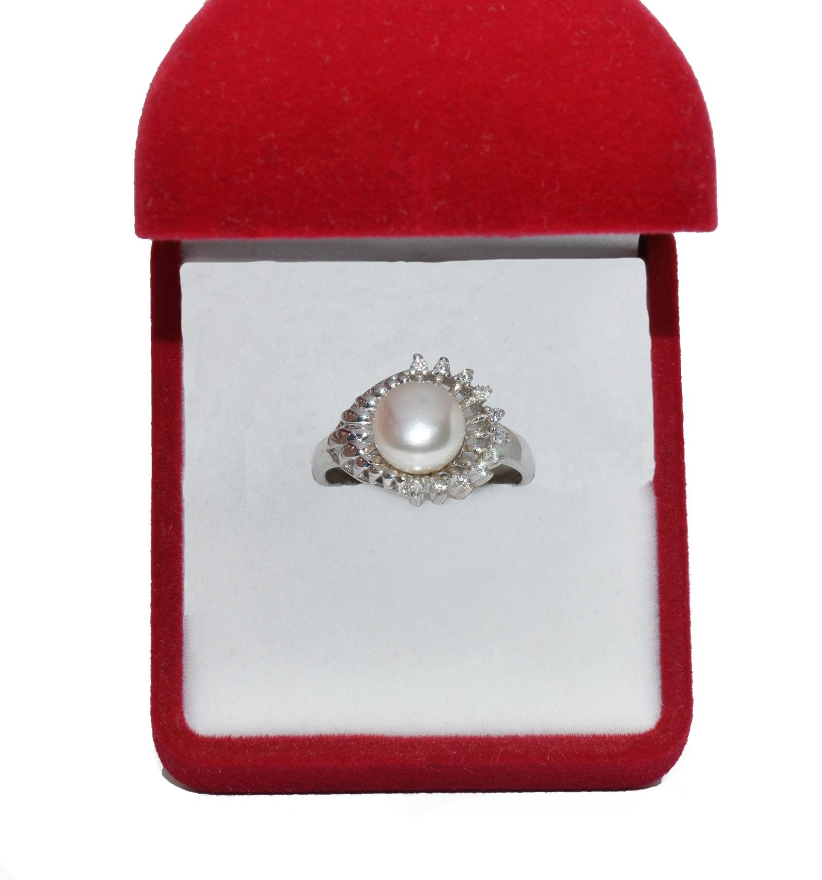 - Ahsen 925 Ayar Gümüş İncili Yüzük AH-0153 (1)