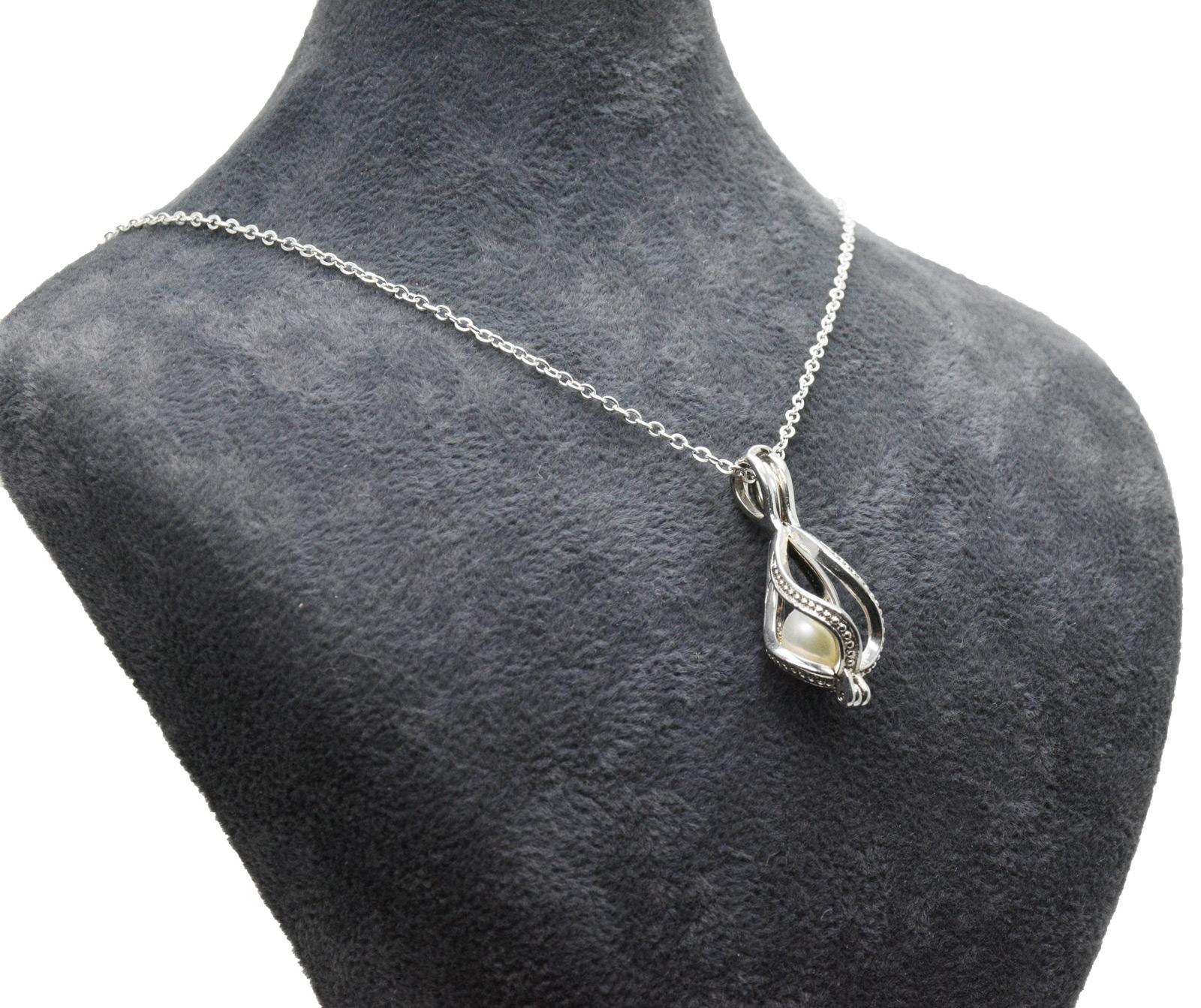 - Ahsen 925 Ayar Gümüş Kafes Doğal İnci Kolye Ucu AH-0179 (1)