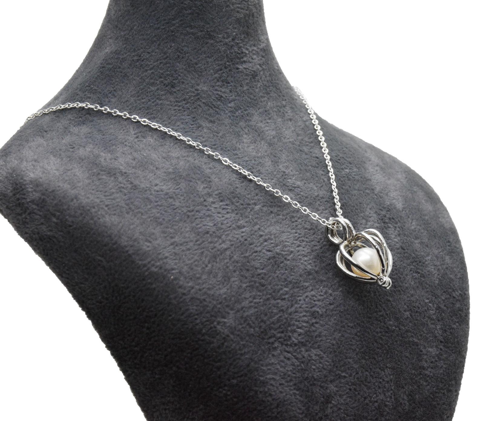 - Ahsen 925 Ayar Gümüş Kafes Doğal İnci Kolye Ucu AH-0180 (1)